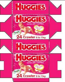 Huggies crowler roze