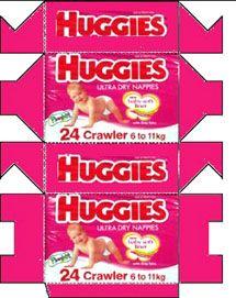Huggies crowler roze