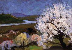 Béla Balla (Hungary 1882-1965) Spring Morning oil on cardboard 34 x 48.5 cm