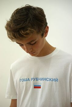 Shot on the same street-cast Russian models that walked on his SS16 runway, Gosha Rubchinskiy's SS16 lookbook is here.