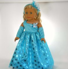 18 inch doll clothes Princess Collection by thesewingshed on Etsy