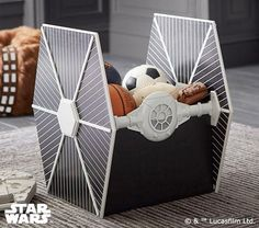 Star Wars tie fighter storage box - it hides your clutter AND looks awesome!