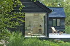 A modular vacation cottage in Denmark with two bedrooms and a sleeping loft in 797 sq ft. | www.facebook.com/SmallHouseBliss