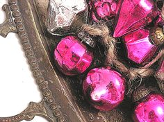 CUTE PINK STUFF ... and more: LOVE MERCURY GLASS ORNAMENTS!