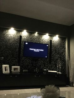 Black living room