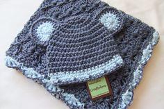 Sombrero del bebé ducha regalo Set manta de bebé por craftolove
