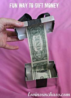 fun way to gift money...Christmas, birthdays and graduations! So doing this!!!