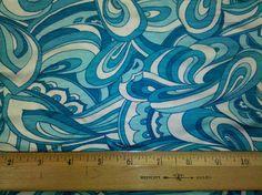 Gorgeous Turquoise Blue  Paisley on Rayon by funkaliciousfabrics, $8.99