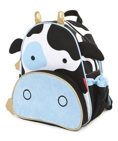 Loving this Skip Hop Black & White Cow Zoo Backpack on #zulily! #zulilyfinds