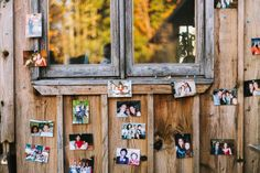 creative escort cards from pictures | Kim & Jess' locally sourced, personalized rustic chic barn wedding at Murray Hill in Leesburg, VA | Images: Jordan Baker Photography