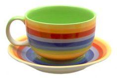 Big colourful mugs...