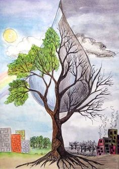 World Environment Day Posters, Environment Painting, Save Earth Drawing, Nature Drawing, Save Water Poster Drawing, Save Earth Posters, Environmental Posters, Earth Drawings, Drawing Competition