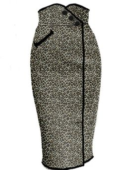 Leopard Rockabilly Wiggle skirt by Amber Middaugh --Save 37% at Chicstar.com coupon: AMBER37 #Retro #Vintage # Rockabilly