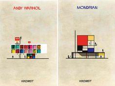 Archist: arquitetura inspirada em grandes artistas | Frederico Babina | bim.bon | #architecture #babina