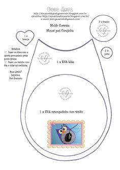Doce Arte by Pati Guerrato: Mouse pad Corujinha - Molde de presente!!!