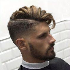 40 Best Side Swept Undercut Hairstyles For Men #undercut #undercuthaircut #undercutfade #mensundercut #disconnectedundercut #undercutmen #undercutdesigns #menshairstyles #menshaircut #menshaircuts Mens Hairstyles With Beard, Great Hairstyles, Fringe Hairstyles, Undercut Hairstyles, Cool Haircuts, Haircuts For Men, Shaved Undercut, Undercut Men, Undercut Pompadour