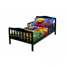 Dream On Me Contemporary Design Toddler Bed in Black - 624-K