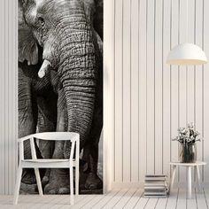 Papier peint largeur unique décor Eléphant
