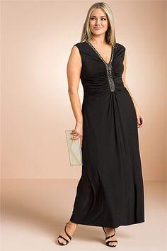 Plus Size Women's Fashion - Sara Sequinned Maxi Dress - EziBuy Australia