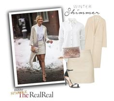 """""""Holiday Sparkle With The RealReal: Contest Entry"""" by rosy-fernandes ❤ liked on Polyvore featuring Acne Studios, rag & bone, Chanel and Schutz"""