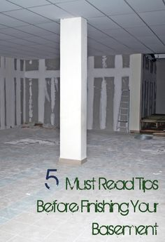 5 Tips to Finishing Your Basement - Wish I Had Known About The Plastic Before We Finished Our Basement 8 Years Ago!!!