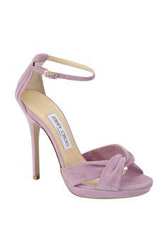 Jimmy Choo spring 2013 pale lavender ankle strap sandals heels