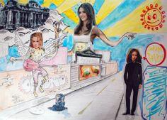Collage por Manolo Longueira.  Collage / Clase de Arte