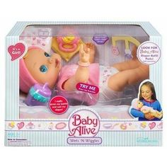 New 2006 Baby Alive Original Wets n Wiggles Animated Girl Doll and Accessories Classic Hasbro Toys