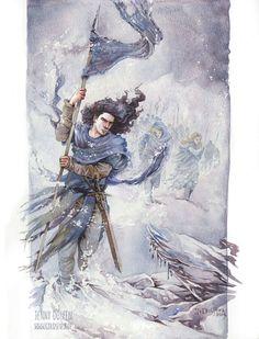 Fingolfin cruzando el Helcaraxe de Jenny Dolfen