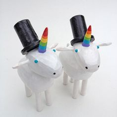 Unicorn Cake Toppers: | 21 Cake Toppers For Your Fabulously Unique Gay Wedding