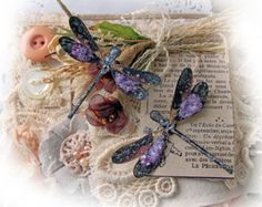 Reneabouquets Tiny Treasures Handcrafted Dragonfly Set Dream