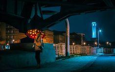 Procházka #walk #nightwalk #moody #industrial #bridge #downtown #townhall #umbrella #light #500px #vsco #instagood #instadaily #from #ostrava #ostravacity #by #janjasiok