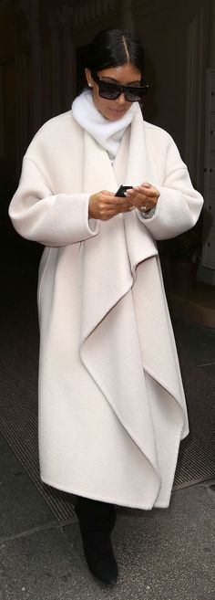 Kim Kardashian's newest coat is a Chloé topper.