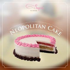 This classic combo of strawberry-vanilla-chocolate in a cake - yummm! #sugarthepatisserie #COTM #NeopolitanCake #dessert #cakesbysugar
