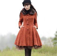 Mulheres outono e inverno casaco feminino longo-sleeved exteriores Magro grande sólido temperamento sobretudos de lã
