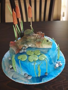 Cake With Fish Cake with fish