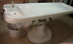 Embalming/Autopsy/Funeral Dressing Table with Bucket!
