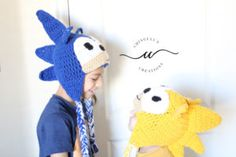 super sonic crochet hat