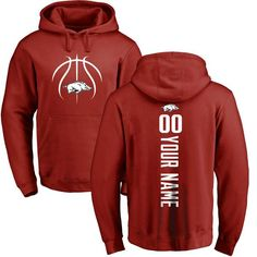 Arkansas Razorbacks Basketball Personalized Backer Pullover Hoodie - Cardinal - $69.99