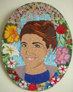 Voile des sentiments tableau en peinture et mosaique for Peinture mosaique
