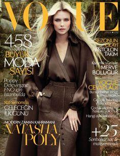 Natasha Poly Stuns on the September '12 Cover of Vogue Turkey