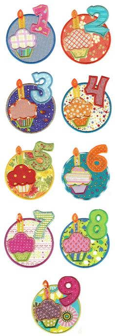 Embroidery | Free Machine Embroidery Designs | Birthday Wishes Applique