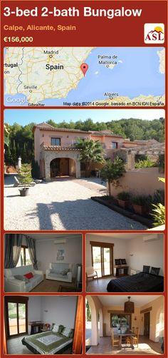 3-bed 2-bath Bungalow in Calpe, Alicante, Spain ►€156,000 #PropertyForSaleInSpain