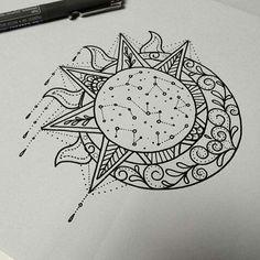 46 Ideas For Tattoo Mandala Sun Tatoo Star Tattoos, Body Art Tattoos, New Tattoos, Cool Tattoos, Tatoos, Gorgeous Tattoos, Wrist Tattoos, Mandala Tattoo Design, Tattoo Designs