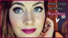 Maquillaje otoño: Labios burdeos ♥ Fall makeup tutorial: burgundy lips +...
