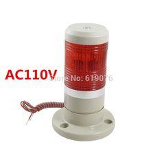 LED flash  Red Signal Tower Industrial Warning Lamp Stack Light Alarm Apparatus 12V 24V 110V 220V