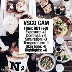 Vsco filter- foodie                                                                                                                                                     Mais
