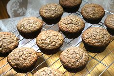 Oatmeal Buckwheat Banana Muffins
