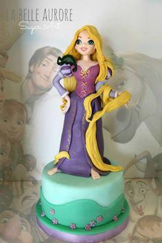 Rapunzel - Cake by La Belle Aurore Rapunzel Flynn, Bolo Rapunzel, Princess Rapunzel, Tangled Birthday, Tangled Party, Birthday Cake, Fancy Cakes, Cute Cakes, Girly Cakes