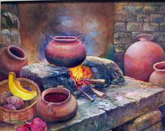Risultati immagini per cuadro representativo del peru Cuban Art, Mexico Art, Still Life Oil Painting, Africa Art, Southwest Art, Beginner Painting, Pottery Painting, Pictures To Paint, Art Plastique